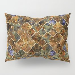 Quatrefoil Moroccan Pattern Brown Labradorite Pillow Sham
