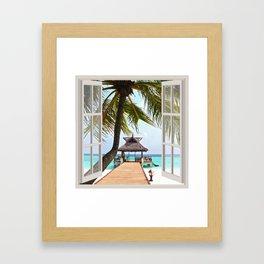 Paradise Beach   OPEN WINDOW ART Framed Art Print