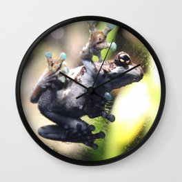 Sticky Frog Wall Clock