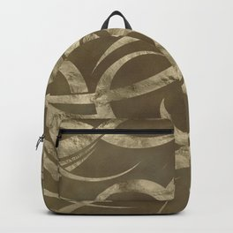 Abstract Maori curve shapes - pastel gold Backpack