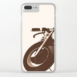 Vintage Motorcycle Clear iPhone Case
