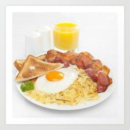 Hearty Breakfast Art Print