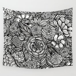 Peony Fascination Wall Tapestry