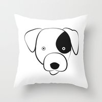 jack russell Throw Pillows featuring Jack Russell by anabelledubois