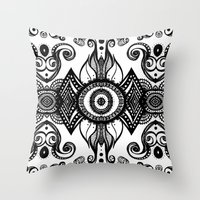 cosmic Throw Pillows featuring Cosmic by GBret