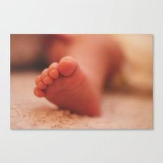 sweet baby toes Canvas Print