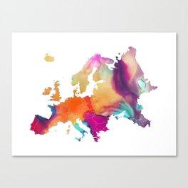 Europe map 1 Canvas Print