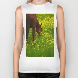 Enjoying The Wildflowers Biker Tank