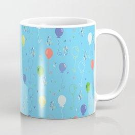 Bright Party Balloons Vector Pattern Coffee Mug