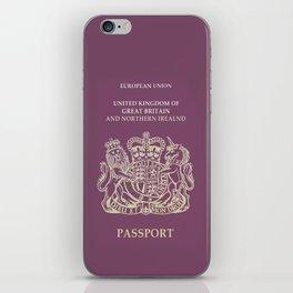 UK Passport  iPhone Skin