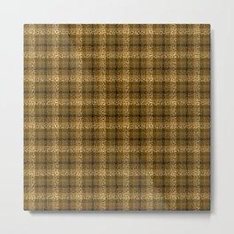 Bubbly Brown Tartan Pattern Metal Print