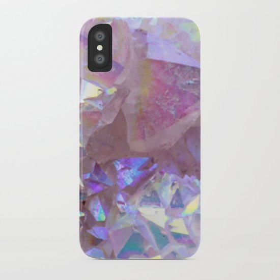 Pink Aura Crystals iPhone Case
