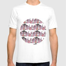 Bear and macaroons!  Mens Fitted Tee White MEDIUM