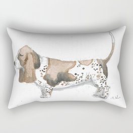 Bodacious Basset Rectangular Pillow