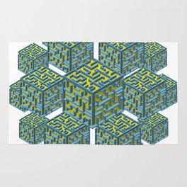 Cubed Mazes Rug