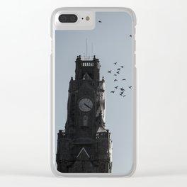 Bird time sky Clear iPhone Case