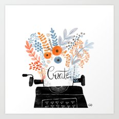 Create | Typewriter Art Print