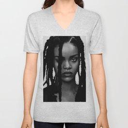 Rihanna music star pop music Unisex V-Neck