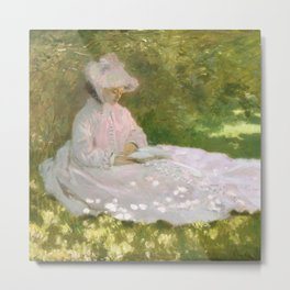 Springtime by Claude Monet Metal Print
