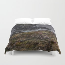 Island of pink flowers Duvet Cover