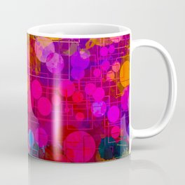 Rainbow Bubbles Abstract Design Coffee Mug