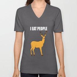 i eat people i eat people deer deer hiking Unisex V-Neck