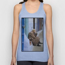 Moroccan man thinking Unisex Tank Top