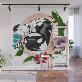 Cute cow illustration Wall Mural