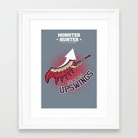 monster hunter Framed Art Prints featuring Monster Hunter All Stars - The Kotoko Upswings  by Bleached ink