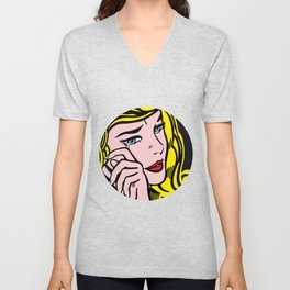 Crying-Girl01 Unisex V-Neck