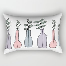 Bottled Plants Trio Rectangular Pillow