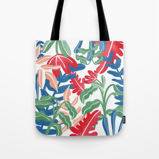 Tropical Vibes Pattern Tote Bag