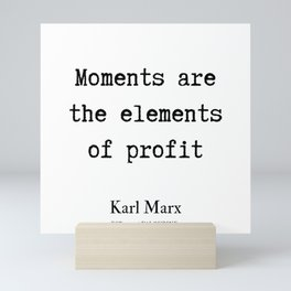 23  | Karl Marx Quotes | 190817 Mini Art Print
