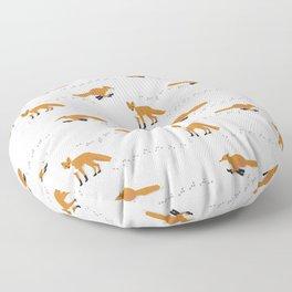Fox Tracks Floor Pillow