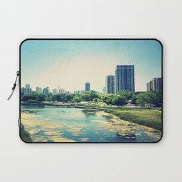 Pond Inside Concrete Jungle  Laptop Sleeve