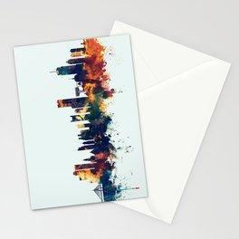 Boston Massachusetts Skyline Stationery Cards