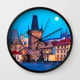 PRAGUE 001A Wall Clock