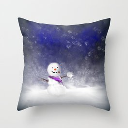 Snowball Fight!!!.....I Think So! Throw Pillow