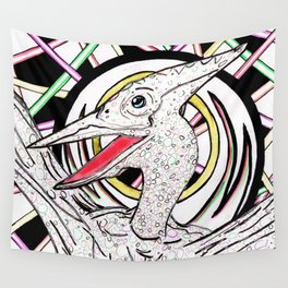 Inked Pterodactyl Wall Tapestry