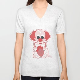 Clown Martians  from Outer Space Unisex V-Neck