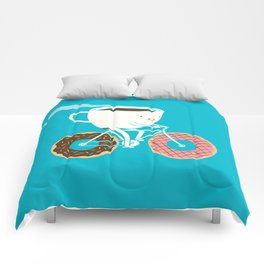 Coffee and Donuts Comforters