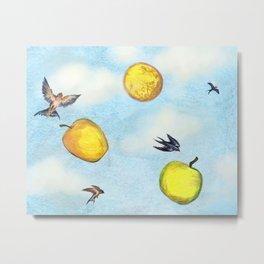 Yellow Apples Like Sunny Days Metal Print