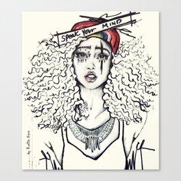 #STUKGIRL SKY Canvas Print