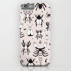Creepy grunge insect and spider illustration pattern print Slim Case iPhone 6