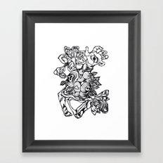 See Eden - linework Framed Art Print