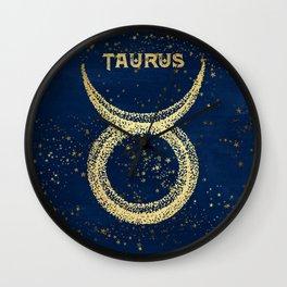 Taurus Zodiac Sign Wall Clock