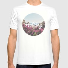 Holiday MEDIUM White Mens Fitted Tee
