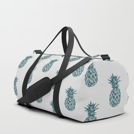 Pineapple Teal Duffle Bag