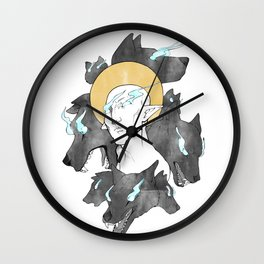 The Dread Wolf Wall Clock