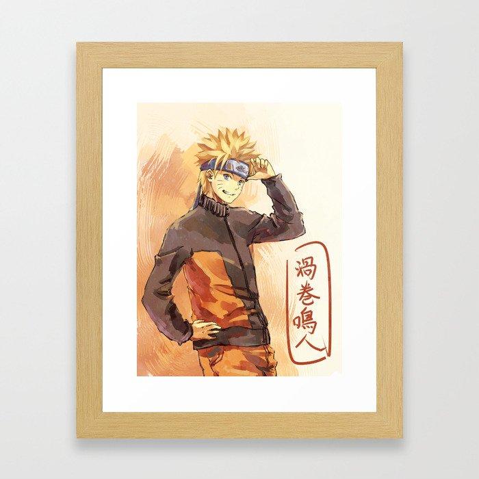 Orange Hurricane Framed Art Print